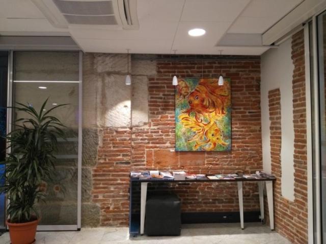 Frédérique Roche Exposition Accueil place du Capitole peinture tableaux fine art artwork inspiration