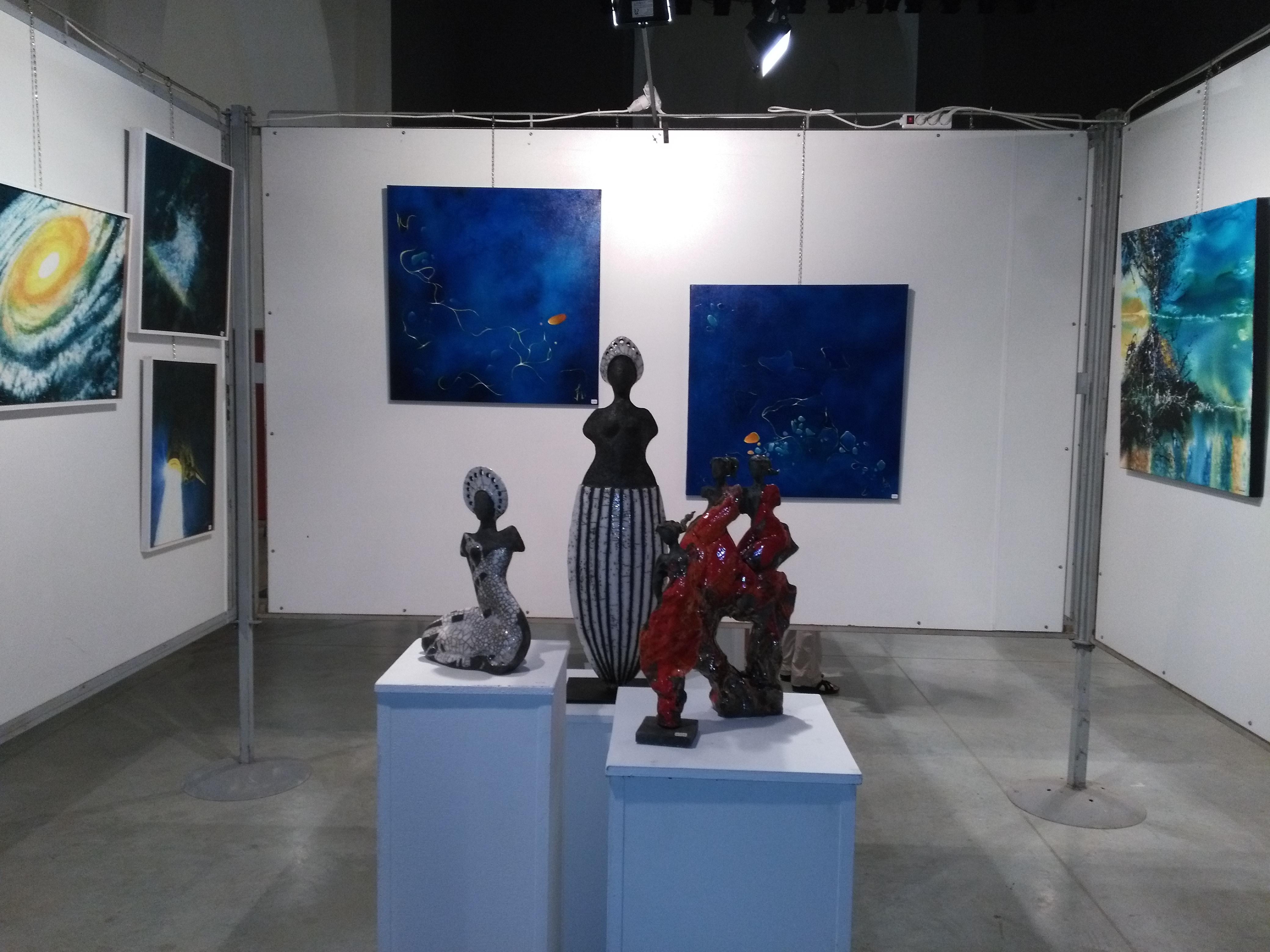 frédérique roche, exposition, sorèze, tableaux, art, technique mixte