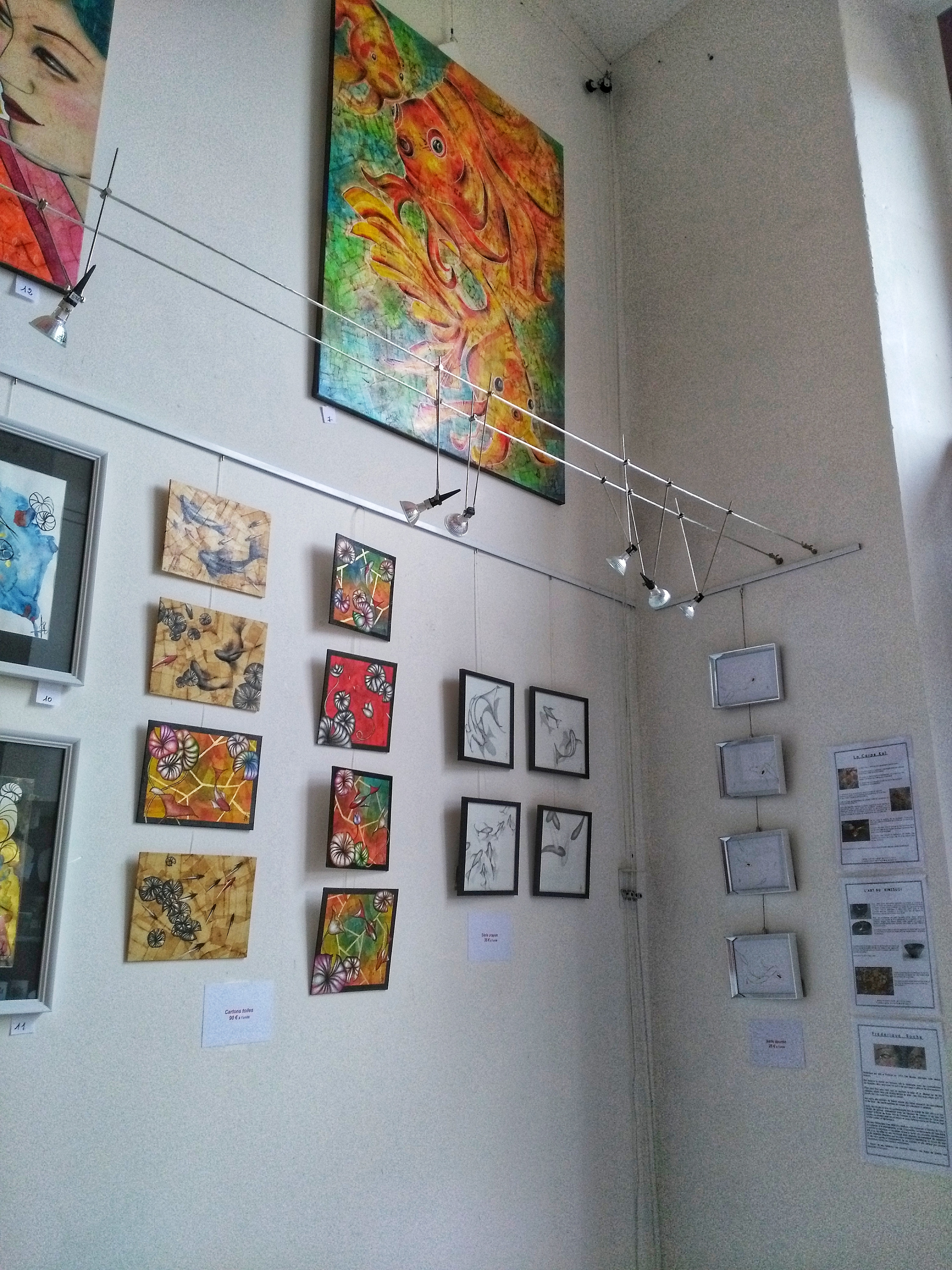 Frédérique Roche, expositions, tableaux, galerie d'art, vernissage